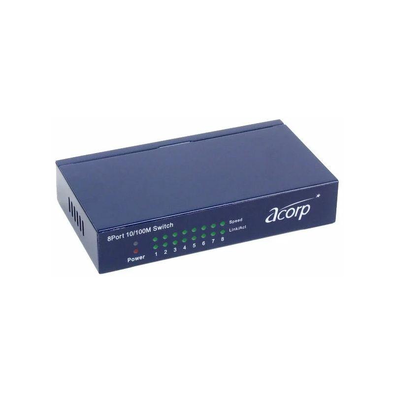 Коммутатор Acorp HU8D 8-port 10/100mbps Metal case [00299] Дисконт