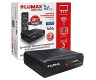 Ресивер DVB-T2 Lumax DV1111HD черный