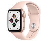 Часы Apple Watch Series SE 44mm золотистый (алюминий) с спортивным ремешком розовый песок