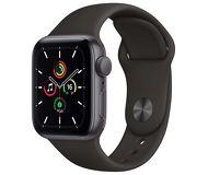 Часы Apple Watch Series SE 44mm темно-серый (алюминий) с черным спорт. ремешком