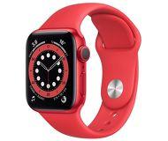 Часы Apple Watch Series 6 40mm красный (алюминий) с красным спорт. ремешком