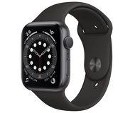Часы Apple Watch Series 6 40mm серый (алюминий) с черным спорт. ремешком