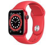 Часы Apple Watch Series 6 44mm красный (алюминий) с красным спорт. ремешком