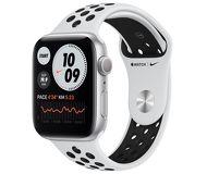 Часы Apple Watch Nike Series 6 44mm серебристые (алюминий) с платиновым спорт. ремешком Nike