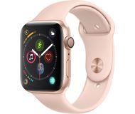 Часы Apple Watch Series 4 44mm золотистые (алюм.) с розово-песочным спорт. ремеш.  Дисконт A