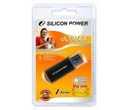 Флешка USB 16 ГБ Silicon Power Ultima II I-series [SP016GBUF2M01V1K], USB2.0, металл, черный