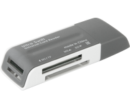 Картридер внешний Defender Ultra Swift, USB 2.0, серый
