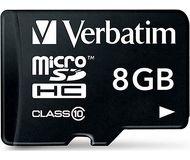 Флеш карта microSDHC 8Gb Verbatim class10 44081