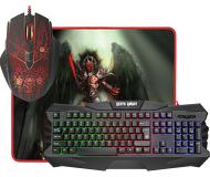 Комплект клавиатура + мышь + коврик Defender Death Knight MKP-007  подсветка