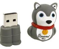 Флешка USB 16 ГБ Smartbuy Wild Собачка [SB16GBDgr]