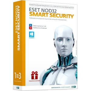 ПО ESET NOD32 Smart Security 3ПК/1год или продление на 20 мес ( NOD32-ESS-1220-(BOX)-1-1  \ CARD)