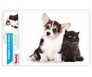Коврик для мыши Buro BU-M40095 Котенок и щенок