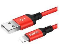 Дата-кабель Hoco Lightning - USB для Apple, 1м, красный [X14]