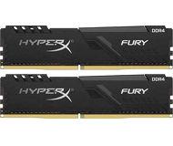 Память DDR4 16 ГБ 3200 МГц PC25600 Kingston HyperX Fury Black [HX432C16FB3K2/16] Набор 2x8 ГБ