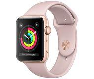Часы Apple Watch Series 3 (GPS) 42mm золотистые (алюминий) с розово-песочным спортивным ремешком