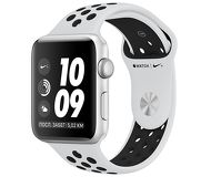 Часы Apple Watch Nike+ (GPS) 42mm серебристые (алюминий) с платиново-черным спорт. ремешком