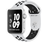Часы Apple Watch Nike+ (GPS) 38mm серебристые (алюминий) с платиново-черным спорт. ремешком