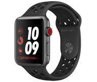 Часы Apple Watch Nike+ (LTE) 38mm серые (алюминий) с антрацитово-чёрным спорт. ремешком