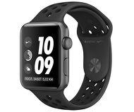Часы Apple Watch Nike+ (GPS) 42mm серые (алюминий) с антрацитово-черным спорт. ремешком