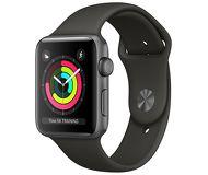 Часы Apple Watch Series 3 (GPS) 38mm серые (алюминий) с серым спортивным ремешком
