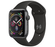 Часы Apple Watch Series 4 (GPS) 40mm серые (алюминий) с черным спорт. ремешком