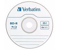 Диск BD-R Verbatim 25Gb 6x (1шт) [43742]