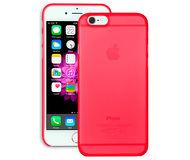 Накладка Ozaki O!coat для  iPhone 6/6S  + пленка на экран, пластик, прозрачно-красный  OC555RD