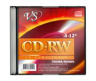 Диск CD-RW TDK 700Mb 4х-12x Slim Case