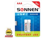 "Батарейка SONNEN AAA LR3 ""Everyday use"" Alkaline комплект 2шт. в блистере (451087)"