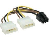 Переходник Gembird 2xMolex-PCI-E 6pin, для подкл. видеокарты к блоку питания  CC-PSU-6