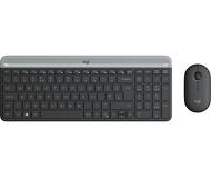 Комплект клавиатура + мышь Logitech MK470 беспроводной, серый (920-009206)