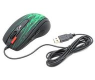 Мышь A4 XL-750BK Green fire Laser Extra High Speed Oscar Editor USB