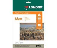Фотобумага Lomond A4 190г/м2 50л.,матовая  0102015