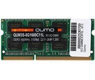 Память SODIMM DDR3L 8 ГБ 1600 МГц PC12800 QUMO [QUM3S-8G1600C11L]