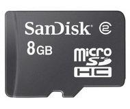 Флеш карта microSDHC 8Gb SanDisk Class 4 SDSDQM-008G-B35