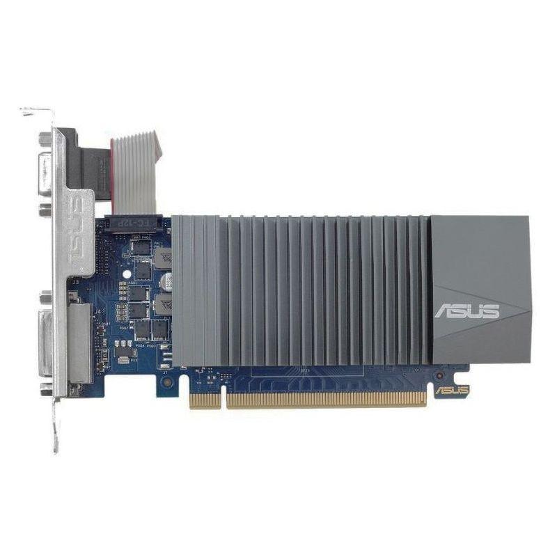 Видеокарта Asus GeForce GT 710 Silent LP (1 ГБ 32 бит) [GT710-SL-1GD5-BRK]