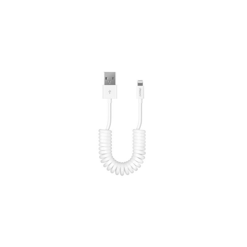 Дата-кабель Deppa Lightning - USB для Apple, MFI, 1.5м, витой, белый [72132]