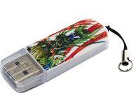 Флешка USB 16 ГБ Verbatim Mini Tattoo Dragon [49888] Белый/рисунок