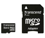 Флеш карта microSDHC 8Gb Transcend Class 10 TS8GUSDHC10 c адаптером