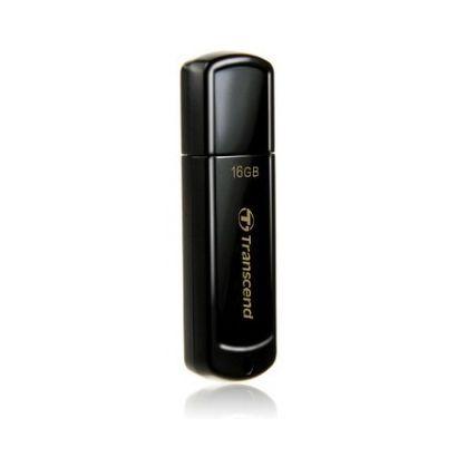 Флешка USB 16 ГБ Transcend JetFlash 350 [TS16GJF350] USB 2.0, черный