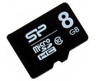 Карта памяти microSDHC 8 ГБ Silicon Power [SP008GBSTH010V10] Class 10