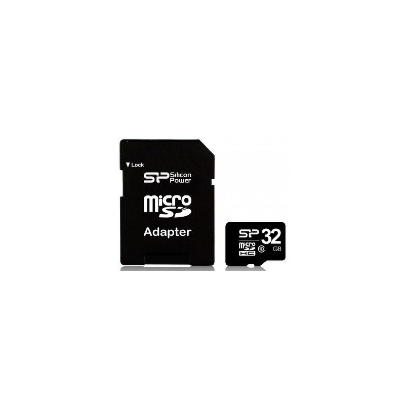 Флеш карта microSDHC 32Gb Silicon Power Class 10 SP032GBSTH010V10-SP c адаптером