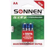 Батарейки Sonnen AA LR6 Супералкалин комплект 2шт. в блистере (451093)