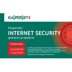 ПО Kaspersky Internet Security Multi-Device Russian Edition. 2-Desktop 1 year Renewal Card KL1941ROBFR