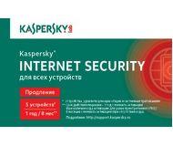ПО Kaspersky Internet Security Multi-Device Russian Edition 5-Desktop 1 year Renewal Card KL1941ROEFR