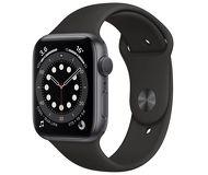 Часы Apple Watch Series 6 44mm серый (алюминий) с черным спорт. ремешком
