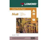 Фотобумага Lomond A4 220 г/м2, 50л, бумага матовая двусторонняя  0102144
