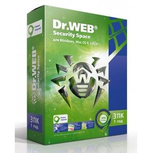 ПО Dr.Web Security Space 3 ПК/1 год  AHW-B-12M-3-A2/BHW-B-12M-3-A3