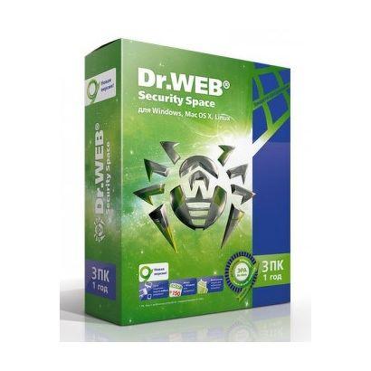 ПО Dr.Web Security Space 3 ПК/1 Год [AHW-B-12M-3-A3] [BHW-B-12M-3-A3]