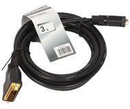 Кабель DVI Dual Link (25M-25M) 3м TV-COM экран, феррит.кольца [CG441D-3M]